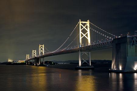 瀬戸大橋記念公園の夜景