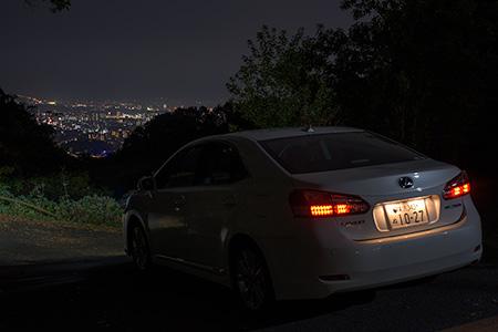 瀬戸風峠分岐の夜景