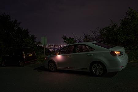 瀬戸風峠の夜景