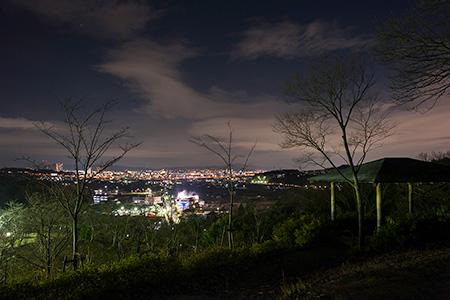 摂津峡公園 やすらぎ亭の夜景