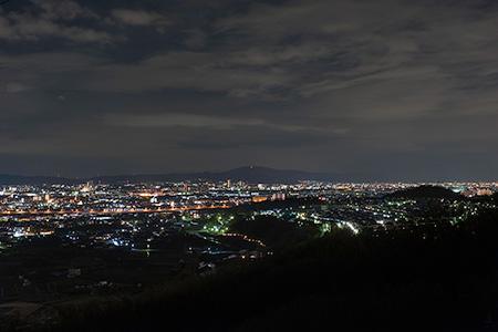 摂津峡公園 展望デッキの夜景