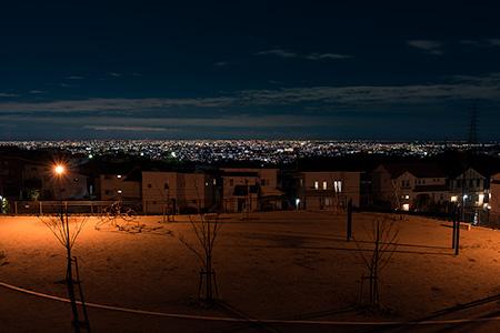 山手台東5丁目芝桜公園の夜景