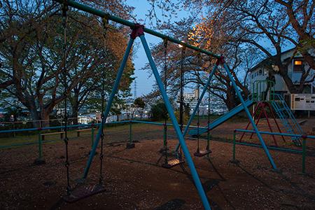 子母口公園の夜景