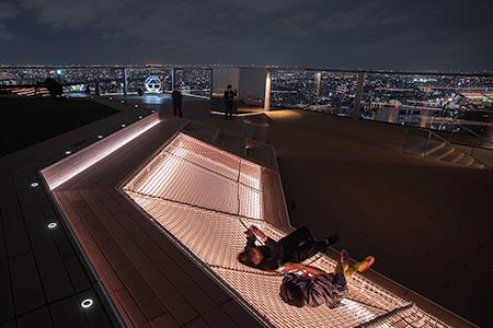 渋谷スクランブルスクエア SHIBUYA SKYの夜景