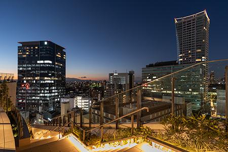 渋谷パルコ ROOFTOP PARKの夜景