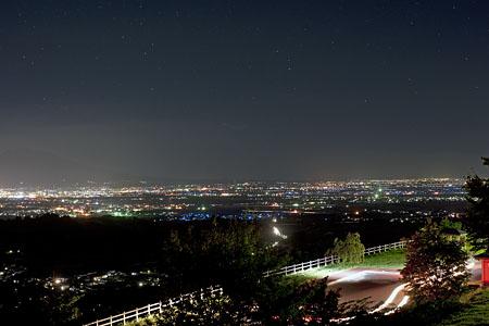 志賀坊高原 展望広場の夜景