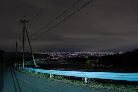 信貴フラワーロードの夜景