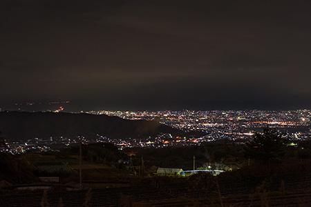 信貴フラワーロード 貯水タンク前の夜景