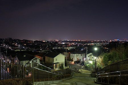みたけ四季彩の丘緑地の夜景