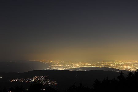 四明嶽駐車場 比叡山ドライブウエイの夜景