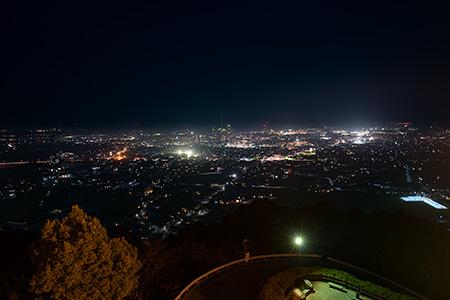 市民の森の夜景
