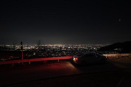 樹園地農道幹線の夜景