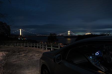 瀬戸大橋架橋記念公園(下津井城跡)の夜景
