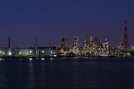 東電前の夜景
