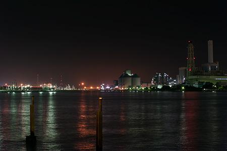 新磯子町の夜景