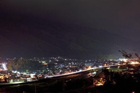 神明神社の夜景