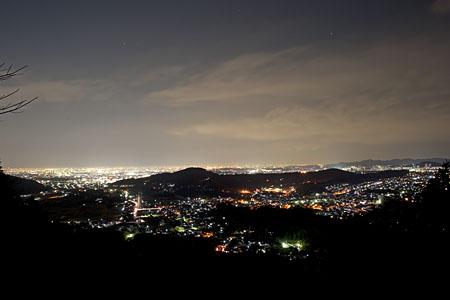 森林交流館 展望デッキの夜景