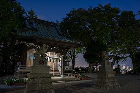 新作八幡宮の夜景
