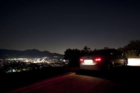 震生湖ゴルフ練習場付近の夜景