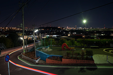 新吉田第三公園の夜景