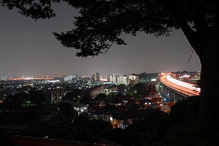 新坂西橋の夜景