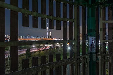 汐入公園の夜景