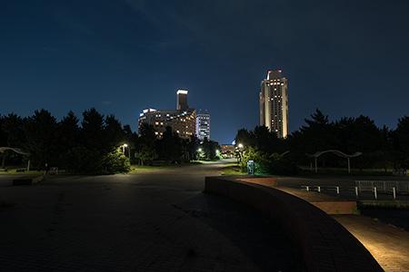 潮風公園 北コーストデッキの夜景