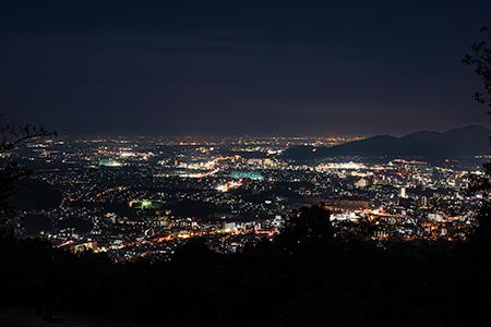 四王寺県民の森の夜景