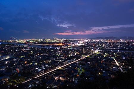 白浜西山公園の夜景