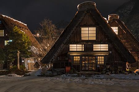 白川郷 喫茶落人の夜景