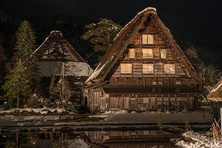 白川郷 明善寺の夜景
