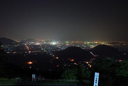 白峰パークセンターの夜景