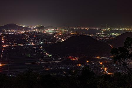 白峰展望台の夜景