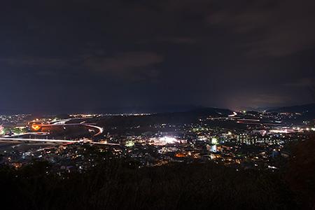 白鷺山公園の夜景