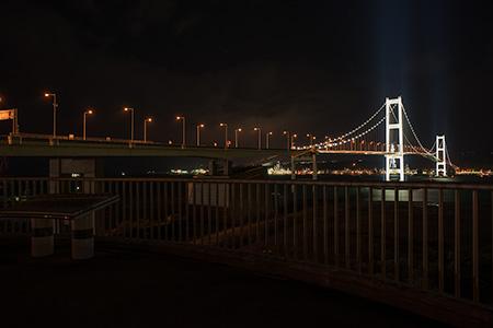 白鳥大橋展望台の夜景