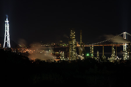 白鳥湾展望台の夜景