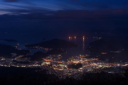 尻割山の夜景
