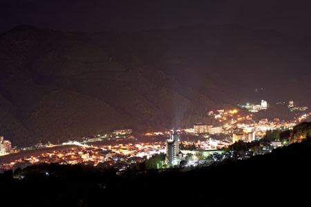 城平見晴台の夜景