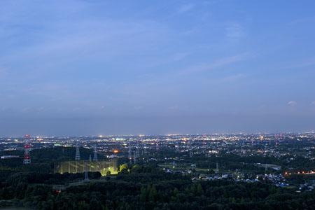 白銀平展望台の夜景