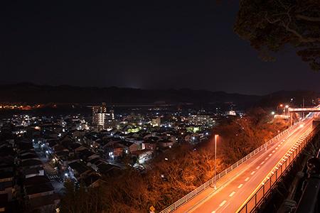 しろさか歩道橋の夜景