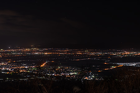 城岱スカイラインの夜景