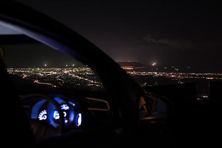 城岱牧場の夜景