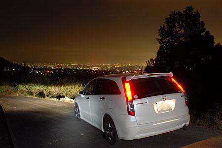 城山麓の夜景