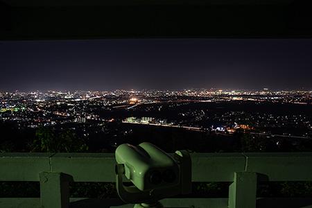 城山公園 しらとり広場の夜景