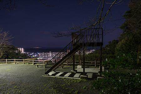 鹿部山の夜景