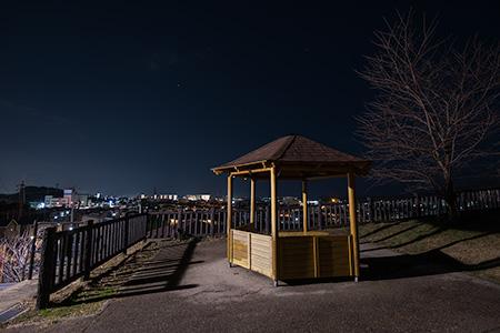 鹿部山公園の夜景