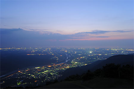 獅子吼高原の夜景