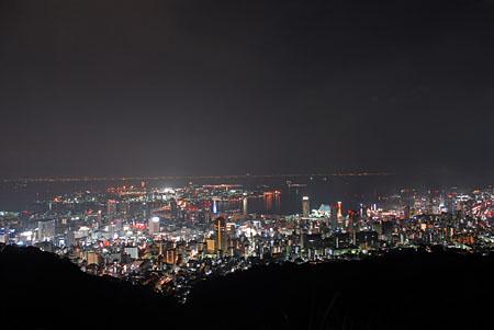市章山の夜景