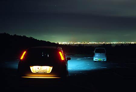 釧路市湿原展望台の夜景