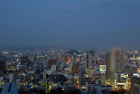 静岡県庁別館 富士山展望ロビーの夜景